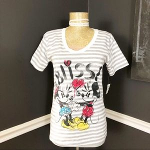 Mickey and Minnie Mouse Art Bliss T Shirt Sz S NWT